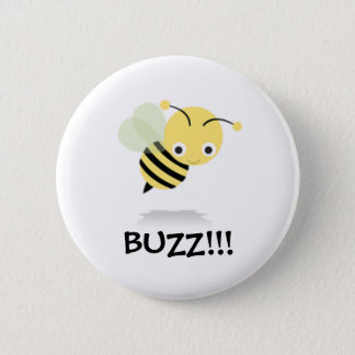 Bee go Buzz 6 Cm Round Badge