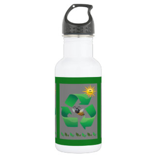 Bee Green - Cute Environmental 532 Ml Water Bottle