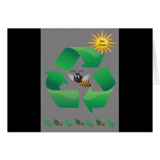 Bee Green - Cute Environmental Card