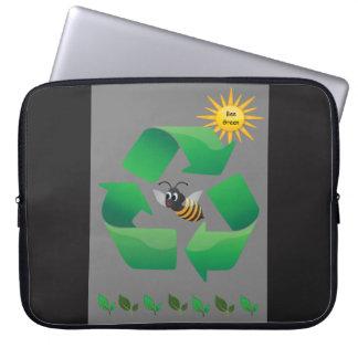 Bee Green - Cute Environmental Computer Sleeve