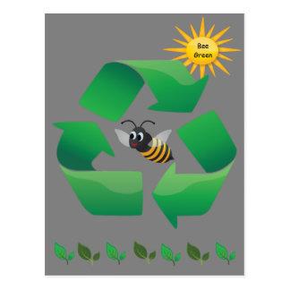 Bee Green - Cute Environmental Postcard