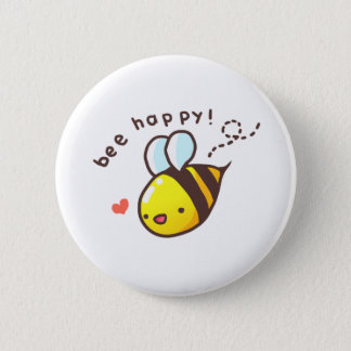 Bee Happy! 6 Cm Round Badge