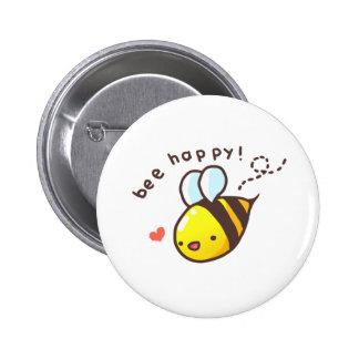 Bee Happy! 6 Cm Round Badge