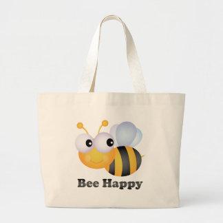 Bee Happy Canvas Bag