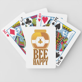 Bee Happy Bicycle Playing Cards