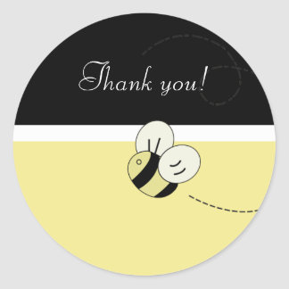 BEE HAPPY Bumble Bee Favor Stickers