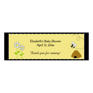 BEE HAPPY BUMBLE BEE Shower / Birthday Favor Tag Business Card Template