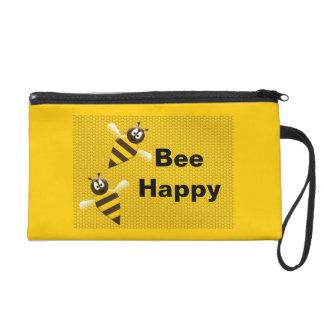 Bee Happy Bumblebee Bagettes Bag Wristlet Purses