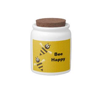 Bee Happy Bumblebee Candy Jar