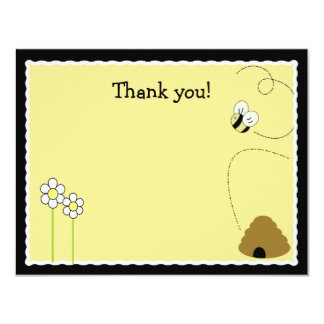 Bee Happy Bumblebee *Matte Finish* Thank you card 11 Cm X 14 Cm Invitation Card