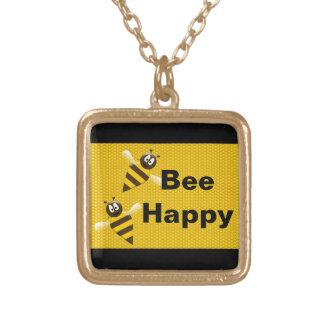 Bee Happy Bumblebee Necklace