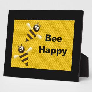 Bee Happy Bumblebee Plaque
