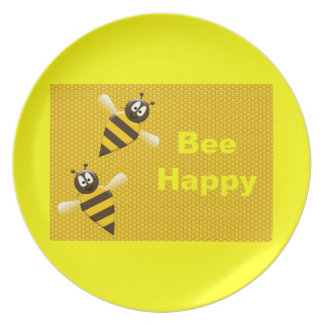 Bee Happy Bumblebee Plate