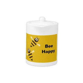 Bee Happy Bumblebee Teapot