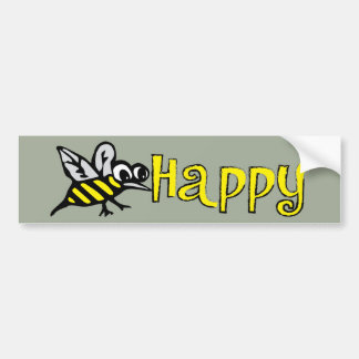Bee Happy Bumper Sticker