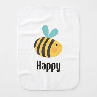 Bee Happy Burp Cloth