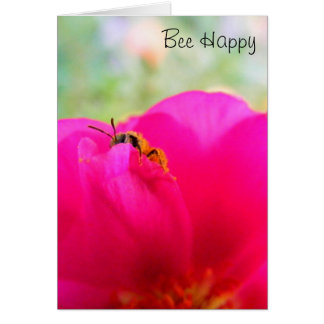 Bee Happy Note Card