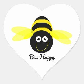 Bee Happy cartoon bee sticker