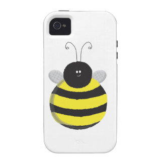 Bee Happy Chubby cute bee iPhone 4 Covers