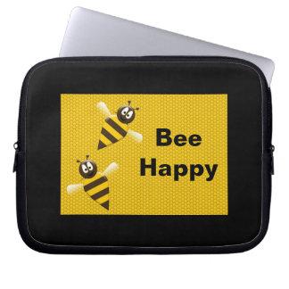 Bee Happy Electronics Bag Computer Sleeves