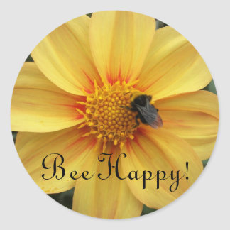 Bee Happy Floral Stickers