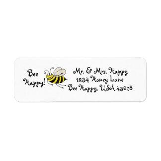 Bee Happy - Honey Bee - Customizable Address Label