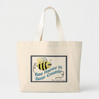 Bee Happy in DC Large Tote Bag