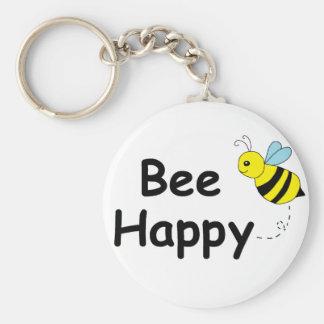 Bee Happy Key Ring