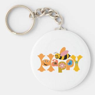 Bee Happy Key Chain