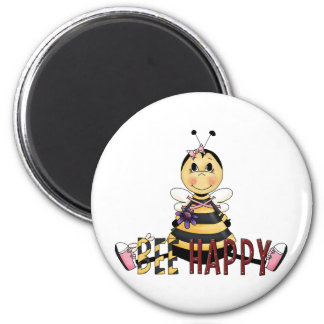 Bee Happy Refrigerator Magnet