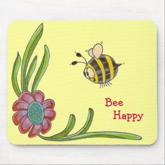 Bee Happy Mousepad