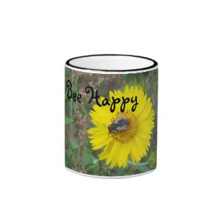 Bee Happy Ringer Coffee Mug