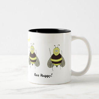 Bee Happy Mug Coffee Cup Whimsical Friend