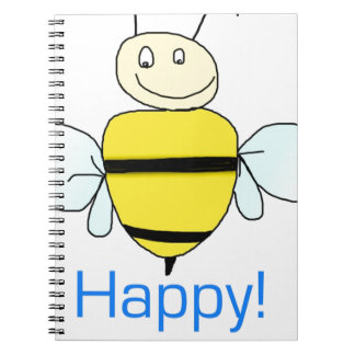 Bee-happy Spiral Notebook