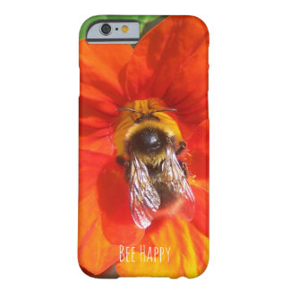 Bee Happy orange phone case