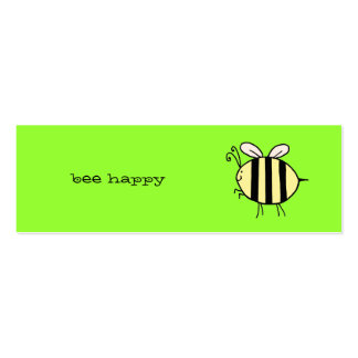 Bee Happy Pack Of Skinny Business Cards