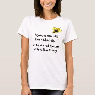 Bee Happy Physics Cartoon Tee