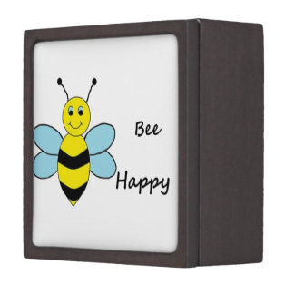 Bee Happy Premium Trinket Boxes