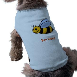 bee happy sleeveless dog shirt