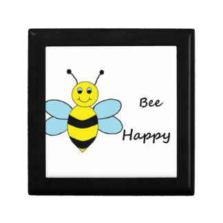 Bee Happy Small Square Gift Box