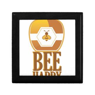 Bee Happy Small Square Gift Box