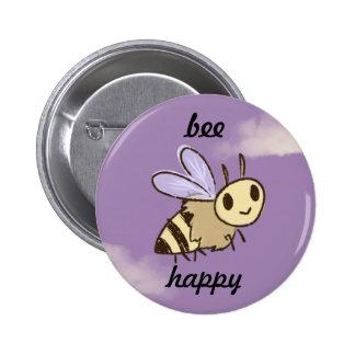 Bee Happy Standard Button