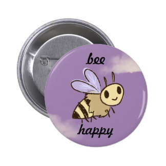 Bee Happy Standard Button