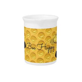Bee Happy & The Honeycomb Beverage Pitchers