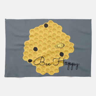 Bee Happy & The Honeycomb Kitchen Towels