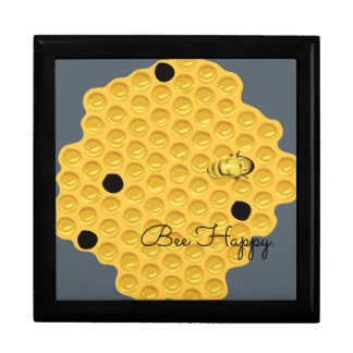 Bee Happy & The Honeycomb Large Square Gift Box