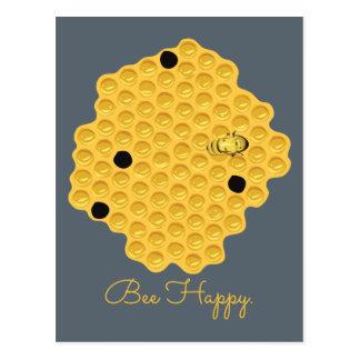 Bee Happy & The Honeycomb Postcard