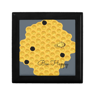 Bee Happy & The Honeycomb Small Square Gift Box