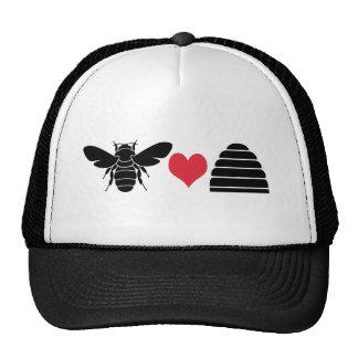 Bee Heart Hive Hat