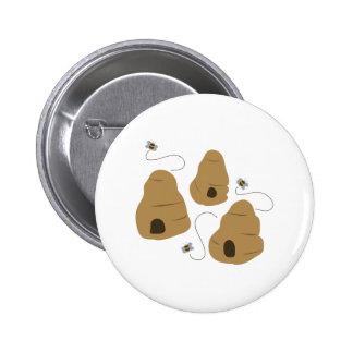 Bee Hive 6 Cm Round Badge